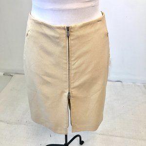 Worth 10 Transitional Zipper Pencil Skirt Tan